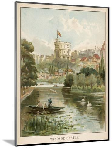 Windsor Castle, Seen across the River--Mounted Giclee Print