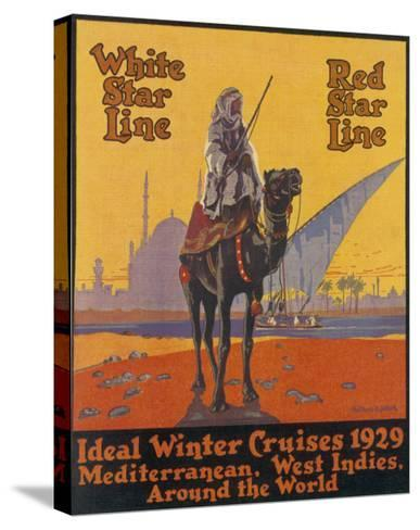 White / Red Star Lines Winter Cruises--Stretched Canvas Print