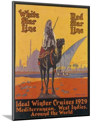 White / Red Star Lines Winter Cruises--Mounted Giclee Print