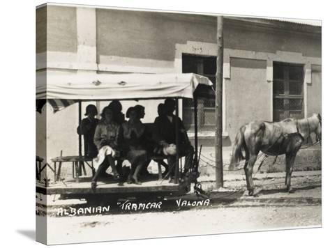 Albania - Vlore - a Horse-Drawn Tram--Stretched Canvas Print