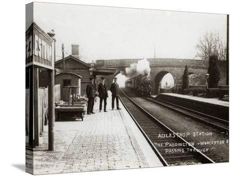 Adlestrop Railway Station, Gloucestershire-Peter Higginbotham-Stretched Canvas Print
