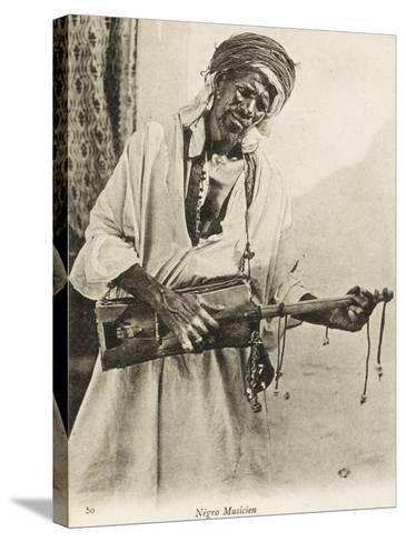 A Black Algerian Musician--Stretched Canvas Print