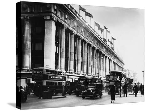 An Exterior View of Selfridges Department Store on London's Oxford Street--Stretched Canvas Print