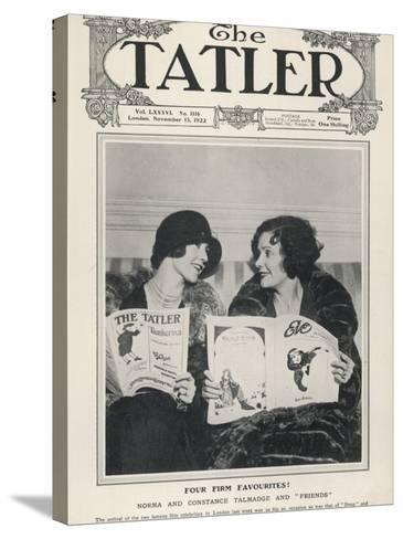 A Tatler Cover to Celebrate the Arrival of Film Celebrities Norma and Constance Talmadge to London--Stretched Canvas Print