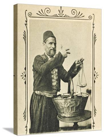 A Pistachio Nut Seller from Izmir (Smyrna), Turkey--Stretched Canvas Print