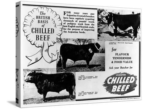 Advertisement by the Argentine Meat Board--Stretched Canvas Print
