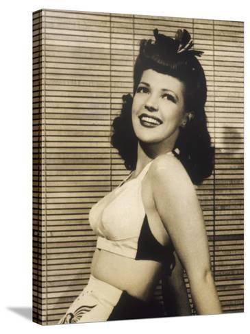 40s Hair Style and Bikini--Stretched Canvas Print