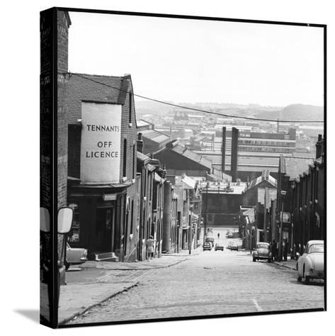 A Sheffield Street Scene-Henry Grant-Stretched Canvas Print