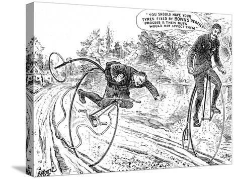 Advertisement for Bown's 'Perfect' Process for Bicycle Tyres--Stretched Canvas Print
