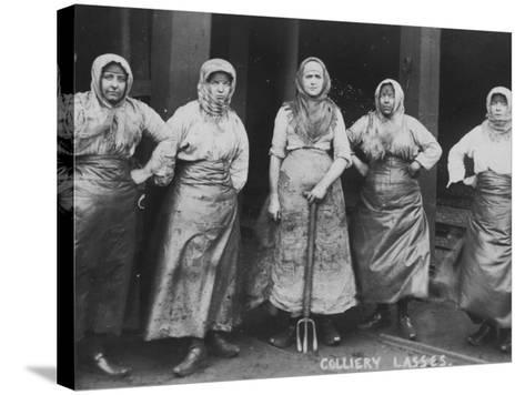 Colliery Lasses' of Wigan--Stretched Canvas Print