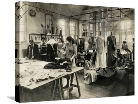 Dressmaker's Workshop-Peter Higginbotham-Stretched Canvas Print