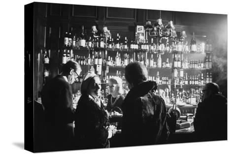 Barmaid in Smoky Pub--Stretched Canvas Print
