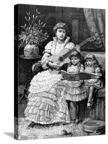 Christmas Carols in a Victorian Household, 1885--Stretched Canvas Print