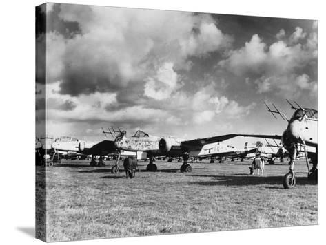 Captured Heinkel 219S--Stretched Canvas Print