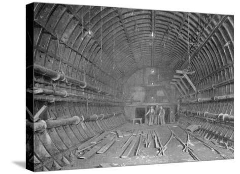 Blackwall Tunnel Interior of the Tunnel During Construction--Stretched Canvas Print