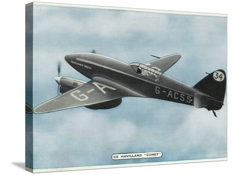 De Havilland Comet--Stretched Canvas Print