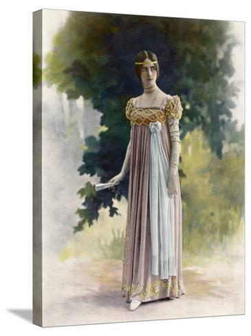 Cleo De Merode French Actress and Dancer in Italian Renaissance Costume--Stretched Canvas Print