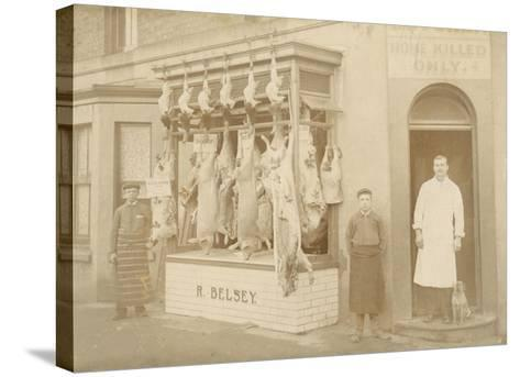 Belsey's Butchers/Photo--Stretched Canvas Print