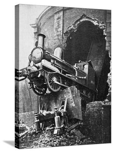 Dublin Train Crash--Stretched Canvas Print
