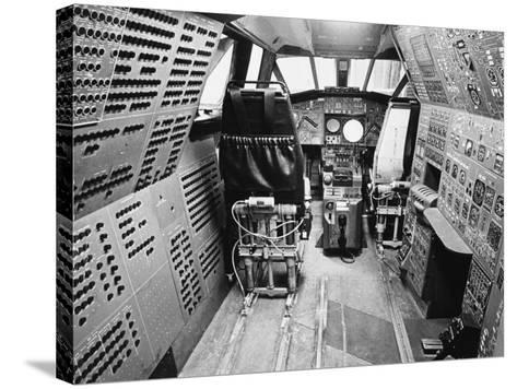 Concorde's Cockpit--Stretched Canvas Print
