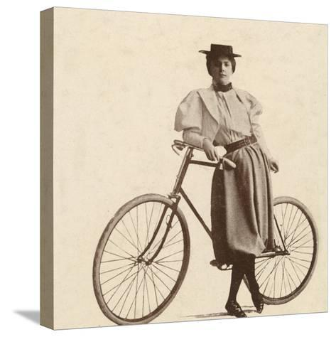 Cycling Outfit of 1890s--Stretched Canvas Print