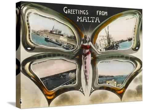 Greetings from Malta--Stretched Canvas Print