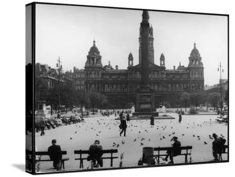 George Square, Glasgow--Stretched Canvas Print