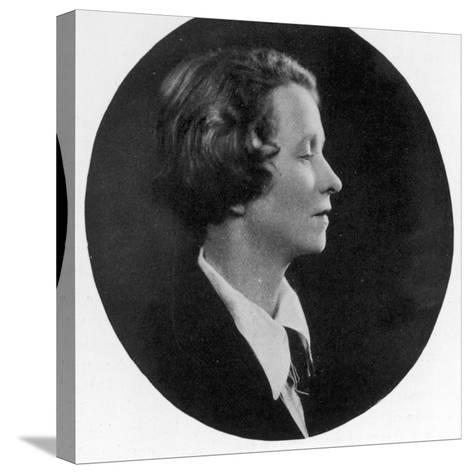 Edna St Vincent Millay American Poet--Stretched Canvas Print
