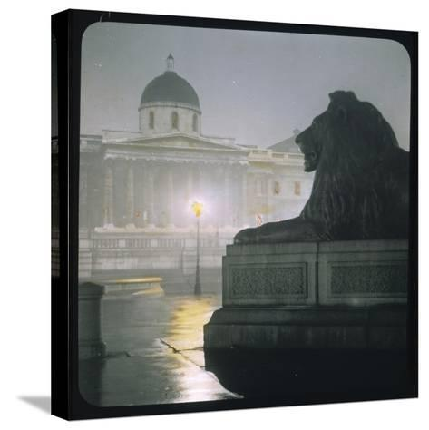 Early Morning in Trafalgar Square--Stretched Canvas Print