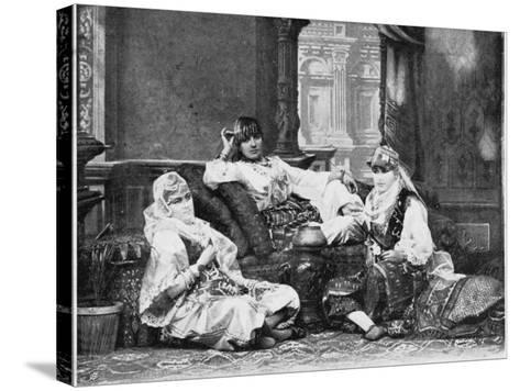 Group of Girls of the Harem, Port Said--Stretched Canvas Print