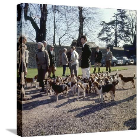 Fox Meet, Surrey 1960s--Stretched Canvas Print