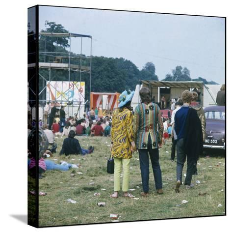 Hippies in Woburn 1969--Stretched Canvas Print
