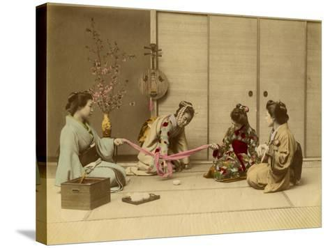 Four Geishas Together--Stretched Canvas Print