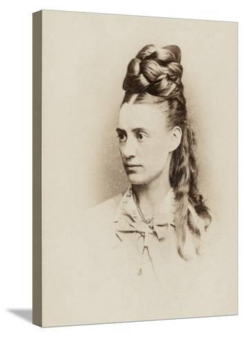 Fantastic Hairdo - Late 19th Century--Stretched Canvas Print