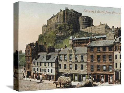 Edinburgh Castle from the Grassmarket--Stretched Canvas Print
