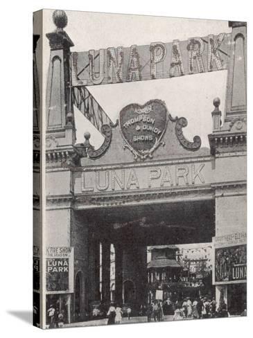 Entrance to the Luna Park on Coney Island, New York, America--Stretched Canvas Print