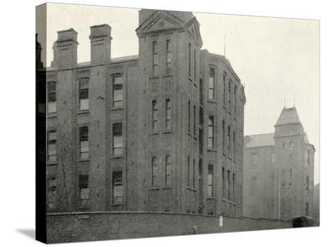 Infirmary Ward Blocks at Hackney Union Workhouse on Homerton High Street-Peter Higginbotham-Stretched Canvas Print