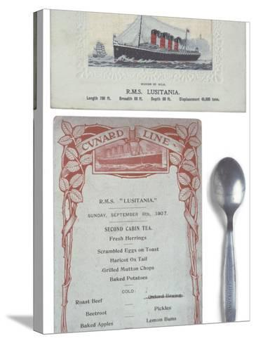 Lusitania Menu--Stretched Canvas Print
