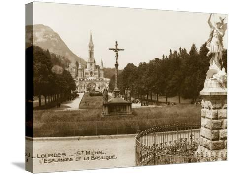 Lourdes - Statue of St. Michael--Stretched Canvas Print