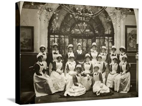 Laundry Staff at Whittingham Asylum, Near Preston, Lancs-Peter Higginbotham-Stretched Canvas Print
