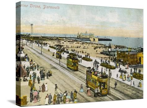 Isle of Wight: Yarmouth Marine Drive--Stretched Canvas Print