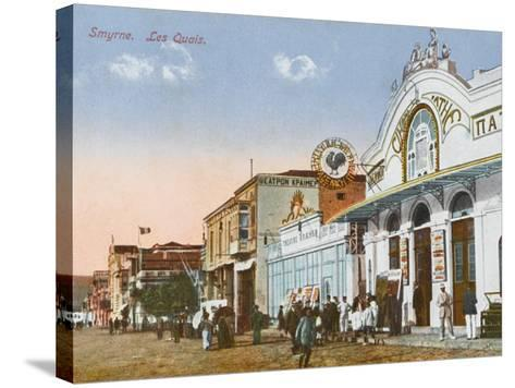 Izmir (Smyrne), Turkey - the Greek Cinema Down by the Quayside--Stretched Canvas Print