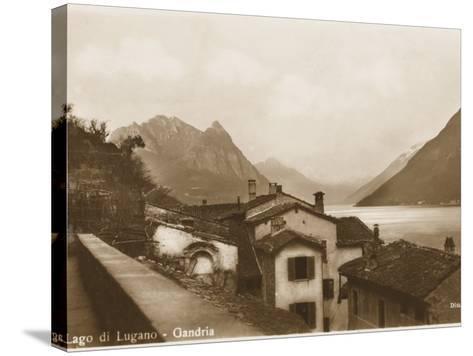 Lake Lugano, Switzerland - Village of Gandria--Stretched Canvas Print