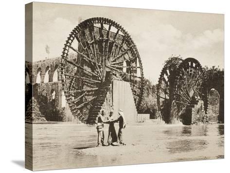 Large Waterwheel at Antakya--Stretched Canvas Print