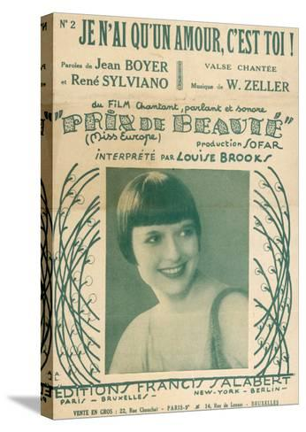 Louise Brooks Song Sheet--Stretched Canvas Print