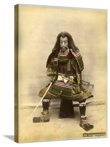 Japanese Actor in the Costume of a Samurai Warrior--Stretched Canvas Print