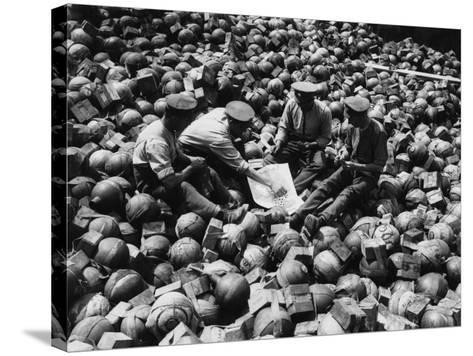 Mortar Pile 1916-Robert Hunt-Stretched Canvas Print