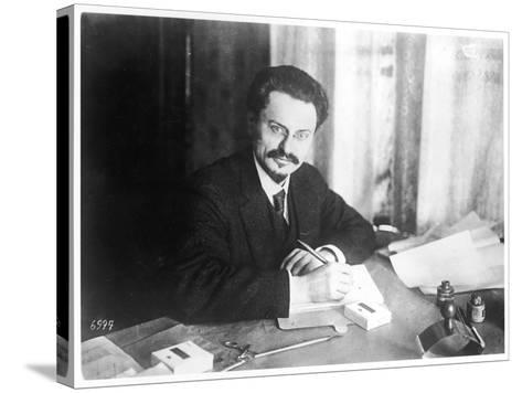 Leon Trotsky Russian Statesman, at Brest- Litovsk 1918--Stretched Canvas Print