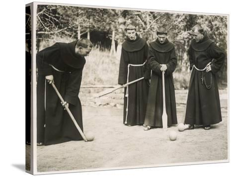 Monks Playing Game--Stretched Canvas Print
