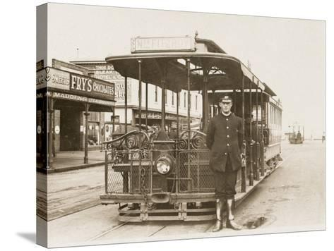 Melbourne Cable Tram and Driver--Stretched Canvas Print
